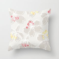 Cherry Blossom: Pattern Throw Pillow