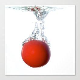Ball splashing Canvas Print