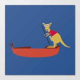 Kangaroo on Gondola Canvas Print