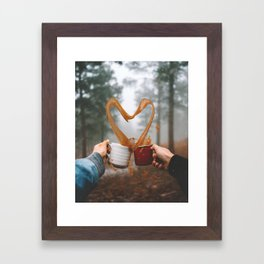 Love and Coffee Framed Art Print