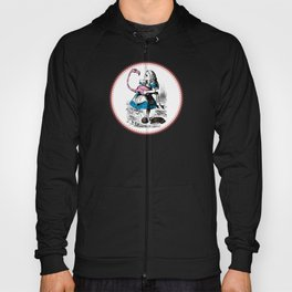 Alice in Wonderland | Alice playing Croquet with a Flamingo and Hedgehogs Hoody
