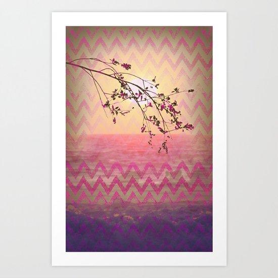 chevron memory Art Print