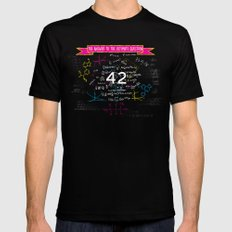 The answer to the ultimate question 42 LARGE Mens Fitted Tee Black
