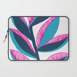 Paradise Flower Coloful Boho Chic Elegant Nature Drawing Laptop Sleeve
