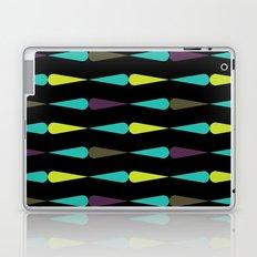 Droplet pattern - purple, teal, lime Laptop & iPad Skin