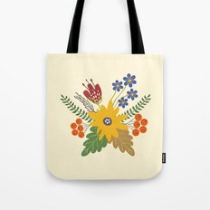 Autumn Fall Flower Bouquet Tote Bag