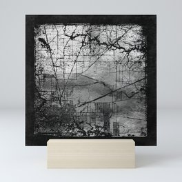 Old Metal Map Mini Art Print