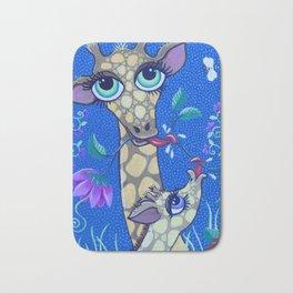Big eye Giraffe in the Jungle Bath Mat