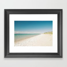 Seaside Manitou Island Framed Art Print