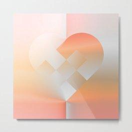 Danish Heart Coral Metal Print