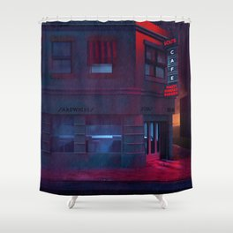 Back To The Future Lou's Cafe Shower Curtain