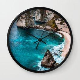 Wave Series Photograph No. 7 - Ocean Paradise Wall Clock