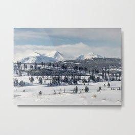 Gallatin Mountains Metal Print