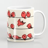 cartoon Mugs featuring Hanging Out by Eric Fan