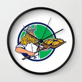 Viking Baker Peel Dough Circle Retro Wall Clock