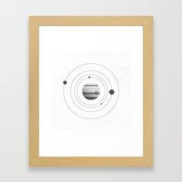 Moons of Jupiter Framed Art Print