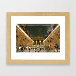 Meetings and Departures Framed Art Print