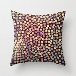 Grunge Dots Throw Pillow