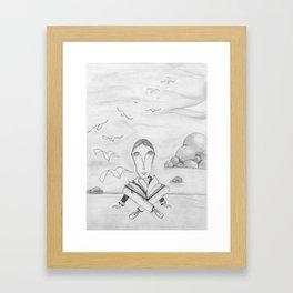 Reading enhances creativity Framed Art Print