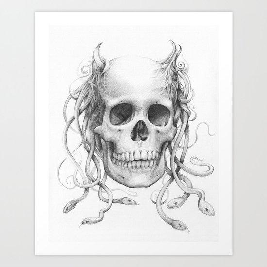 Medusa Skull Art Print