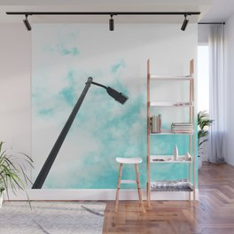 Turquoise Sky Clouds Wall Mural