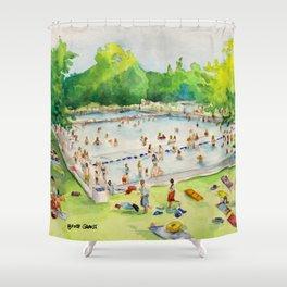 Deep Eddy Pool - Austin, Texas Shower Curtain