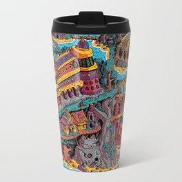 Mumbo Jumbo City (Color) Metal Travel Mug
