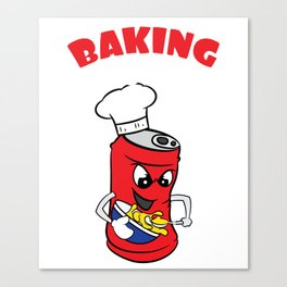 """Cute and fabulous """"Baking Soda"""" tee design. Makes a unique and cute gift to your friends too!  Canvas Print"""