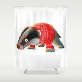 Cosy Badger Shower Curtain