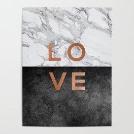 Love Copper Poster