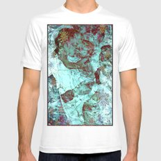 Blue Madonna and Child LARGE White Mens Fitted Tee