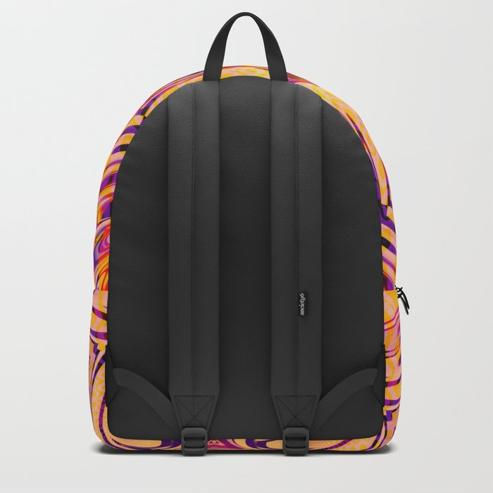 Funkydelic - Purple Yellow Red Geometric Backpack