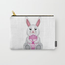 Easter bunny with pink egg Carry-All Pouch