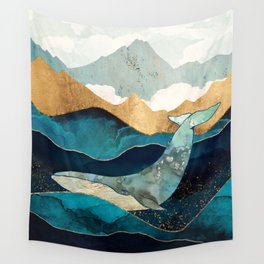 Blue Whale Wall Tapestry