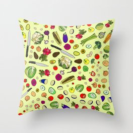 Vegetable Soup Recipe Throw Pillow