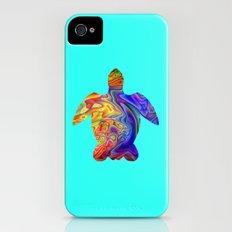 Psychedelic Sea Turtle iPhone (4, 4s) Slim Case