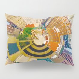 Downtown Kansas City Tiny Planet Pillow Sham