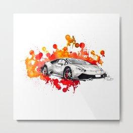 Lamborghini Huracan Metal Print