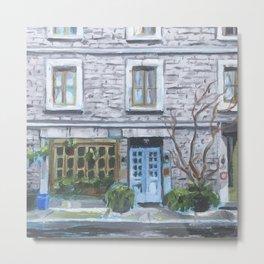 Montreal Blue Door Metal Print