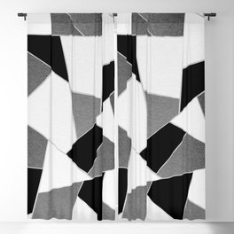 Gray Black White Geometric Glam #1 #geo #decor #art #society6 Blackout Curtain