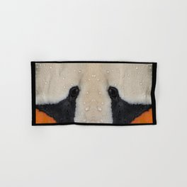 Mute Swan in Winter - CloseUp Hand & Bath Towel
