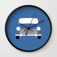 mini cooper Wall Clocks featuring Mini Cooper ( Mk VII ) by Nick Steen
