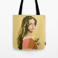 Lana with Rose Tote Bag