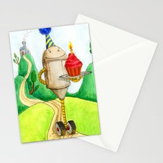 Birthday Robot 1: Cupcake Stationery Cards