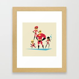 Incredi-family Framed Art Print