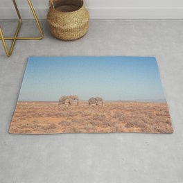 Elephants in South Africa Rug