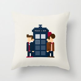 Doctor Who 10th & 11th Throw Pillow