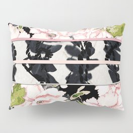 Pink Peony with Shibori Obi Band Print Pillow Sham