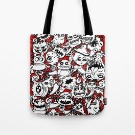 Cute lil monsters doodles Tote Bag