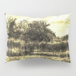 Lily Pond Vintage Pillow Sham